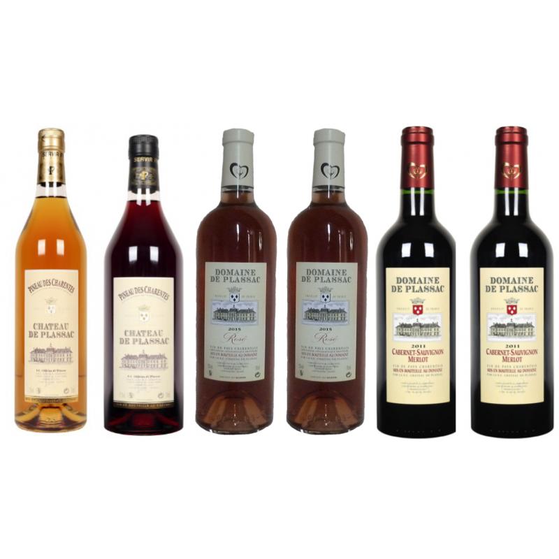 Offre de Noël n°2 Château de Plassac Pineau des Charentes Vin de pays Charentais