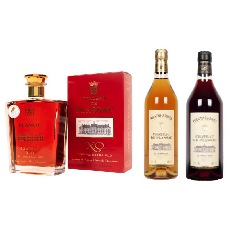 Offre de Noël n°3 Château de Plassac Cognac XO et Pineau des Charentes