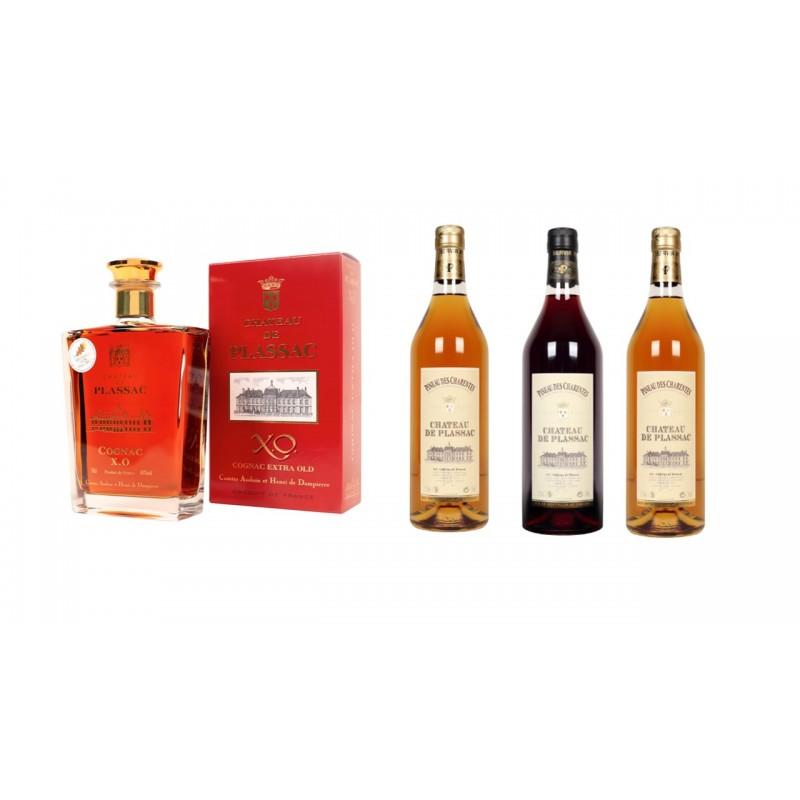 Offre n °2 Fête des Pères           Château de Plassac :  Cognac XO  et Pineau  des charentes