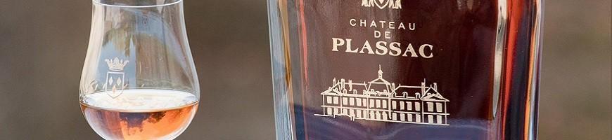 Cognac XO médaille d'or en carafe, Cognac Napoléon, Château de Plassac